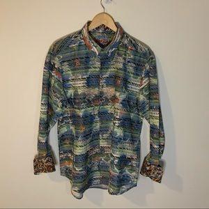 Robert Graham Colorful Stripe Button Down Shirt
